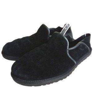 Ugg Men's Black Shearling Slippers -N1272
